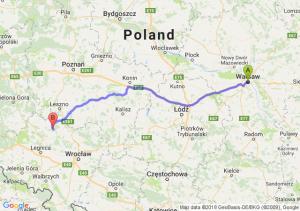 Trasa Warszawa - Chobienia