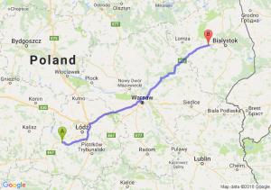Trasa Zduńska Wola - Jeżewo Stare