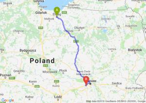 Trasa Elbląg - Pruszków