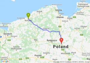 Trasa Koszalin - Lubicz Dolny