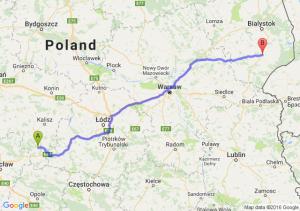 Ostrzeszów (wielkopolskie) - Bielsk Podlaski (podlaskie)