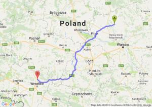Trasa Ciechanów - Trzebnica