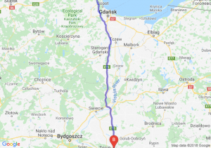 Trasa Gdynia - Lubicz Dolny