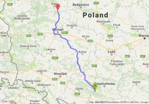 Trasa Lubliniec - Chodzież