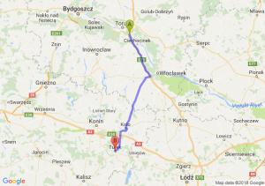 Trasa Brzoza (koło Torunia) - Turek