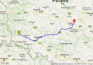 Trasa Bolesławiec - Brzeziny