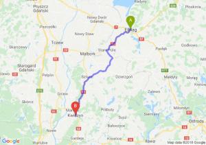Trasa Elbląg - Kwidzyn
