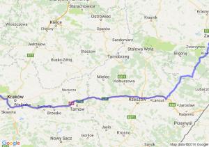 Zamość (lubelskie) - Krzeszowice (małopolskie)