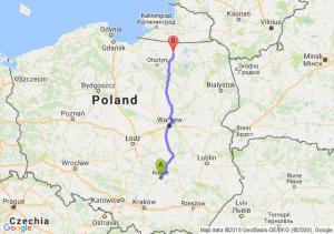Trasa Kielce - Robawy