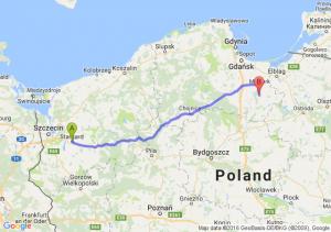 Stargard Szczeciński (zachodniopomorskie) - Sztum (pomorskie)