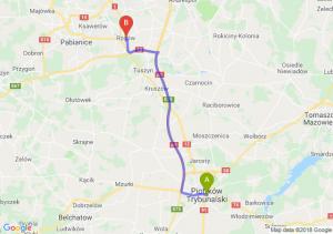Trasa Piotrków Trybunalski - Rzgów