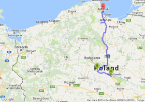 Lodz Wschod - Torun - Gdynia (pomorskie)