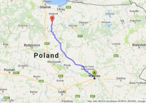 Trasa Warszawa - Brachlewo