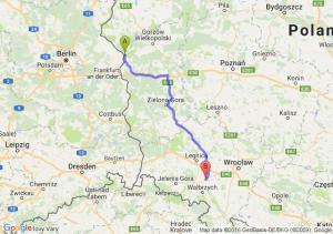 Kostrzyn nad Odrą (lubuskie) - Strzegom (dolnośląskie)