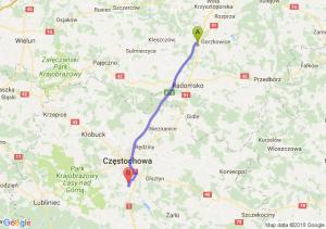 Trasa Kamieńsk - Poczesna
