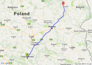 Częstochowa (śląskie) - Nowogród (podlaskie)