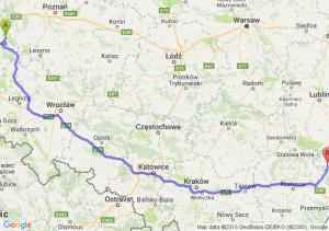Kargowa (lubuskie) - Tarnogród (lubelskie)