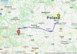 Trasa Lipno - Zielona Góra