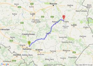 Trasa Dąbrowa Górnicza - Zajezierze