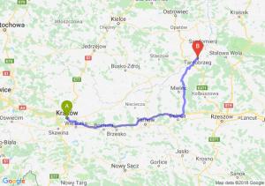 Trasa Kraków - Tarnobrzeg