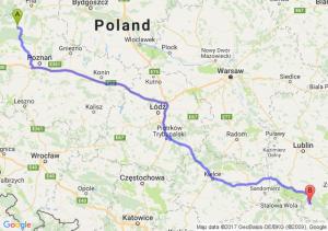 Trasa Ciszkowo - Biłgoraj
