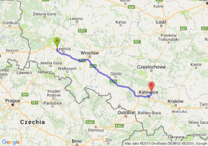 Trasa Chojnów - Będzin