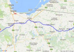 Ryn (warmińsko-mazurskie) - Czersk (pomorskie)