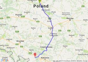 Trasa Toruń - Kędzierzyn-Koźle