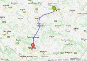 Trasa Pruszków - Sosnowiec