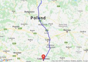 Trasa Kwidzyn - Częstochowa