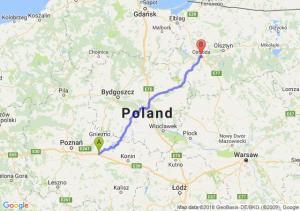 Trasa Września - Ostróda