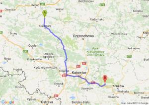 Byczyna (opolskie) - Krzeszowice (małopolskie)