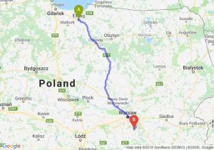 Trasa Elbląg - Góra Kalwaria