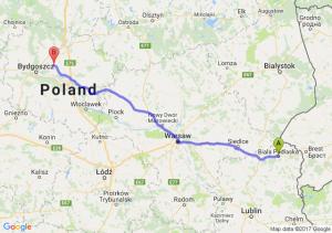 Trasa Biała Podlaska - Unisław