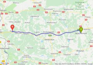 Trasa Nowy Tomyśl - Rzepin