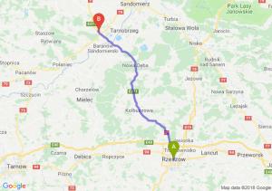 Trasa Rzeszów - Łoniów