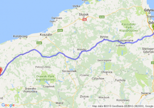 Pruszcz Gdański (pomorskie) - Nowogard (zachodniopomorskie)