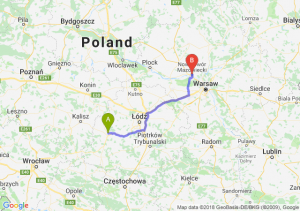 Trasa Sieradz - Nowy Dwór Mazowiecki