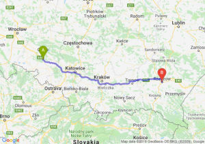 Trasa Dąbrówka Górna - Rzeszów