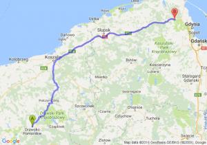 Drawsko Pomorskie (zachodniopomorskie) - Wejherowo (pomorskie)