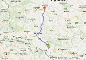 Głogówek (opolskie) - Września (wielkopolskie)