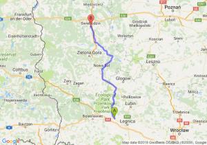 Trasa Chojnów - Świebodzin