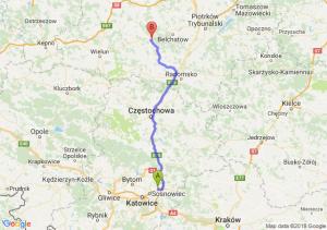 Trasa Dąbrowa Górnicza - Szczerców