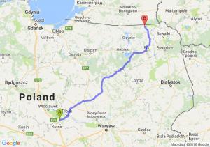 Gostynin (mazowieckie) - Gołdap (warmińsko-mazurskie)