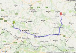 Opole (opolskie) - Bełżyce (lubelskie)