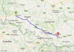 Trasa Chojnów - Łagiewniki