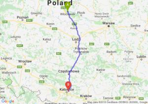 Trasa Włocławek - Sosnowiec
