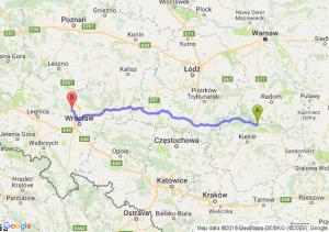Trasa Skarżysko-Kamienna - Oborniki Śląskie