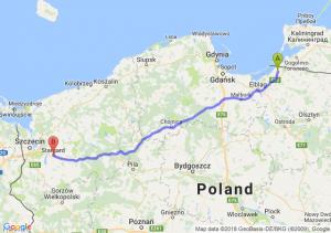 Trasa Braniewo - Stargard Szczeciński