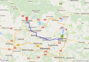 Trasa Dąbrowa Górnicza - Tarnowskie Góry